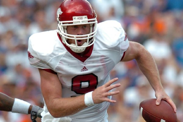 Former Arkansas quarterback Matt Jones accounted for 116 of the Razorbacks' 157 yards in overtime in the seven-overtime 2001 victory over Ole Miss.