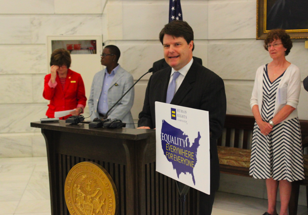 arkansas-economic-development-commission-director-grant-tennille-speaks-at-a-human-rights-campaign-news-conference-monday
