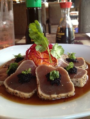 Tuna Tataki is one of the sushi bar appetizers at Chi's Asian Cafe in Riverdale.