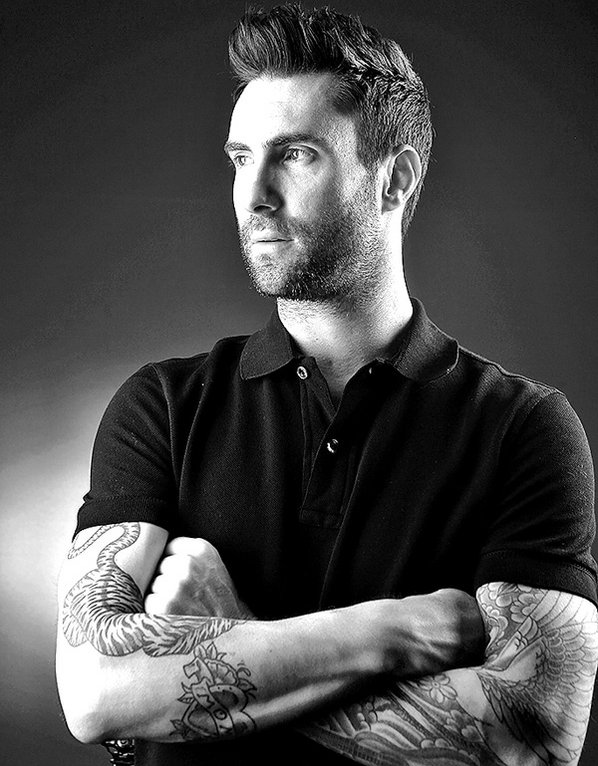 Musician Adam Levine poses for ...