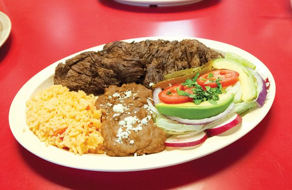 Dishes with carne asada are ...