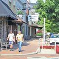 Josh Baker of Lowell said Springdale's improvements in downtown are running behind those in Rogers a...