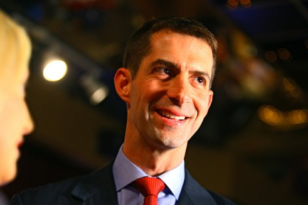republican-tom-cotton-waits-to-do-a-television-interview-during-a-watch-party-in-hot-springs-on-tuesday-may-21-2013