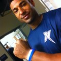 Northwest Arkansas Naturals first baseman Matt Fields shows off the blue Team Bertschy bracelet he w...