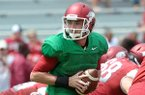 Brandon Allen completed 16 of 17 passes during Arkansas' first scrimmage of the preseason Saturday.