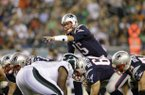 New England Patriots quarterback Ryan Mallett calls a play during the first half of a preseason NFL football game against the Philadelphia Eagles, Friday, Aug. 9, 2013, in Philadelphia. (AP Photo/Michael Perez)