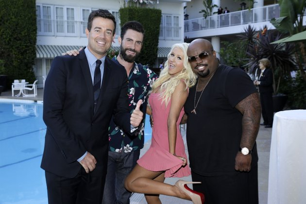 carson-daly-adam-levine-christina-aguilera-and-ceelo-green-of-nbcs-the-voice-mug-for-the-camera-at-the-recent-tv-critics-summer-press-tour-at-the-beverly-hilton-hotel-in-beverly-hills