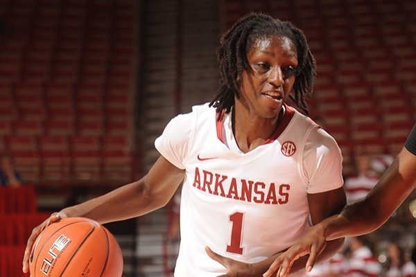 Keira Peak averaged 18 points per game during Arkansas' exhibition trip.