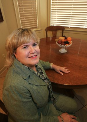 Arkansas Democrat-Gazette/STATON BREIDENTHAL --7/29/13-- Leslie Taylor in her favorite space in her Little Rock home. 