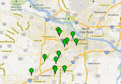 this-google-map-shows-the-locations-of-13-residential-burglaries-reported-in-little-rock-monday