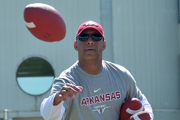 Michael Smith is in his first season as Arkansas' wide receivers coach.