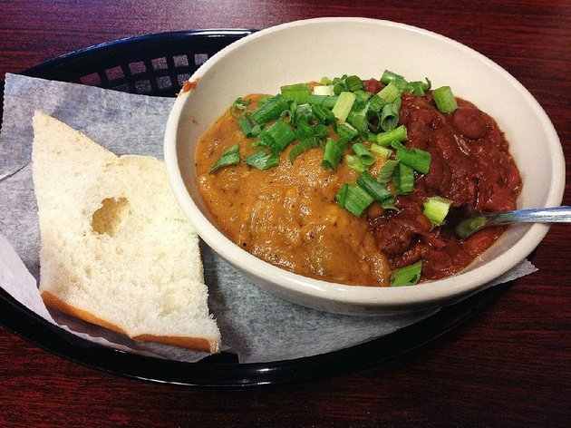 a-mix-and-match-of-crawfish-etouffee-and-red-beans-rice-is-served-at-j-gumbos-in-little-rock