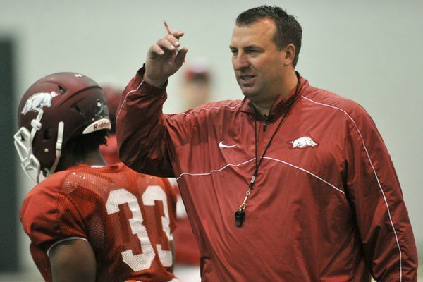 Arkansas coach Bret Bielema understands why the Razorbacks are picked to finish near the bottom of the SEC in his first season after going 4-8 last season, but he believes a turnaround can be accomplished quicker than most anticipate.