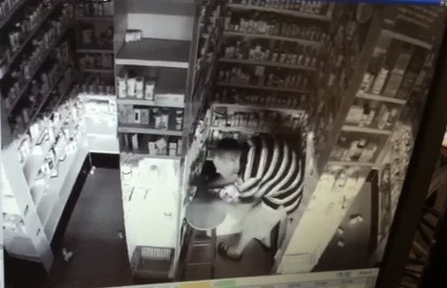 a-screenshot-of-a-suspect-in-a-burglary-of-the-pharmacy-of-the-freds-discount-store-15700-arch-street-pike-on-sunday-morning