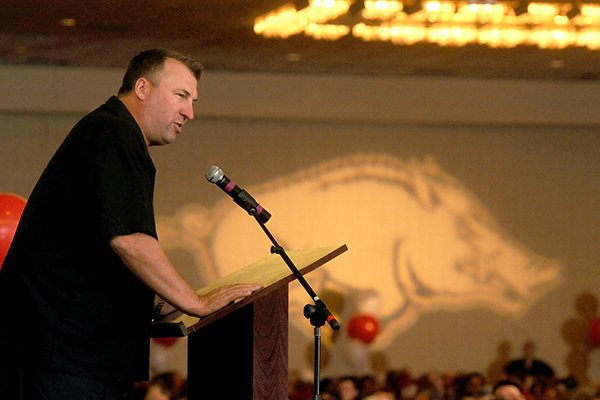 University of Arkansas head football coach Bret Bielema at the Razorback Football Kickoff Luncheon Friday, Aug. 23, 2013 at the Northwest Arkansas Convention Center in Springdale.