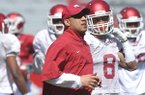Arkansas receivers coach Michael Smith was instrumental in Melvinson Hartfield's commitment to the Razorbacks.