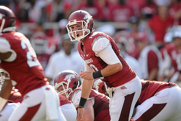 brandon-allen-calls-out-plays-saturday-aug-31-2013-during-the-fourth-quarter-of-the-game-against-louisiana-at-donald-w-reynolds-razorback-stadium-in-fayetteville