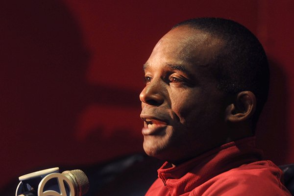 University of Arkansas assistant coach Randy Shannon during media day Sunday, Aug. 11, 2013 at the Fred W. Smith Football Center in Fayetteville.