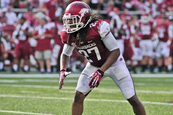 Arkansas safety Alan Turner started in place of an injured Rohan Gaines against Samford on Saturday.