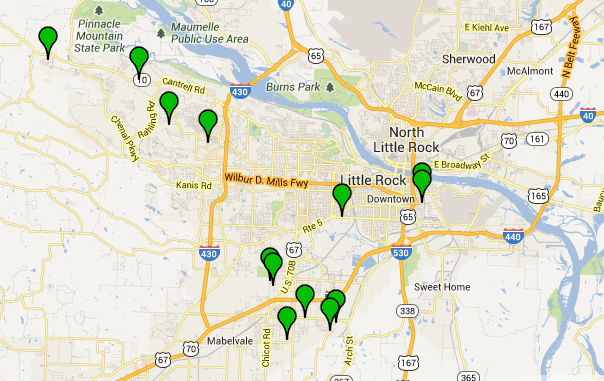 this-screenshot-from-the-little-rock-crime-map-shows-the-locations-of-13-residential-burglaries-reported-saturdya-and-sunday