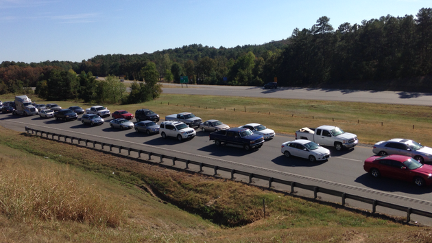 traffic-was-snarled-for-at-least-10-miles-along-the-interstate-40-westbound-lanes-friday-after-multiple-wrecks-occurred-between-maumelle-and-mayflower