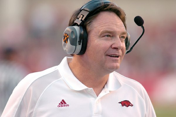 Houston Nutt coached Arkansas from 1998 to 2007.