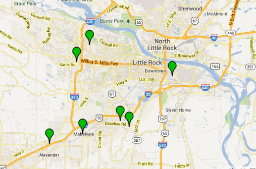 this-screenshot-from-the-little-rock-crime-map-shows-the-locations-of-seven-residential-burglaries-reported-thursday-in-the-city