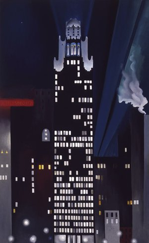 Georgia O'Keeffe's Radiator Building — Night, New York (1927) is the centerpiece of an exhibit of the Alfred Stieglitz collection opening Nov. 9 at Crystal Bridges Museum of American Art.