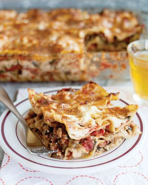 This Cheesy All-Vegetable Lasagna is easily adapted to whatever you might have in the fridge.