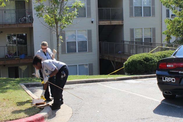 authorities-investigate-a-shooting-that-occurred-thursday-afternoon-at-the-bristol-parks-apartment-complex-in-little-rock