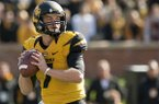 Missouri quarterback Maty Mauk throws during the first quarter of an NCAA college football game against Florida Saturday, Oct. 19, 2013, in Columbia, Mo. Missouri won 36-17. (AP Photo/L.G. Patterson)