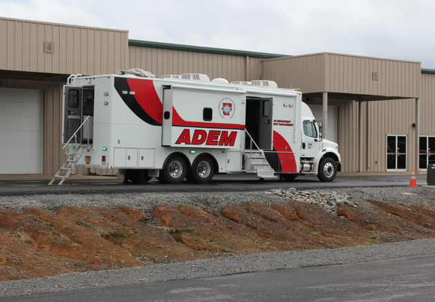 the-arkansas-department-of-emergency-management-mobile-command-unit-is-parked-in-front-of-the-conway-expo-center-thursday-during-a-drill-simulating-how-the-state-would-accept-out-of-state-aid-during-a-hurricane