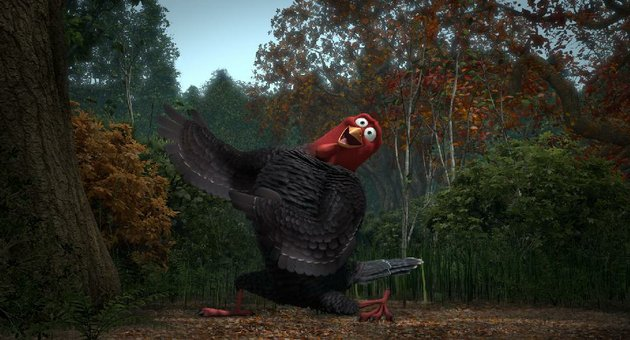 jake-voiced-by-woody-harrelson-travels-back-in-time-to-get-turkey-off-the-thanksgiving-menu-for-good-in-free-birds