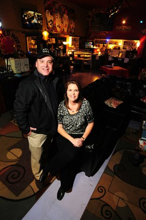 Jody and Donna Copeland recently obtained a private club permit for their KXIO Coffee House in Clarksville — an FM radio station that also serves coffee and food.