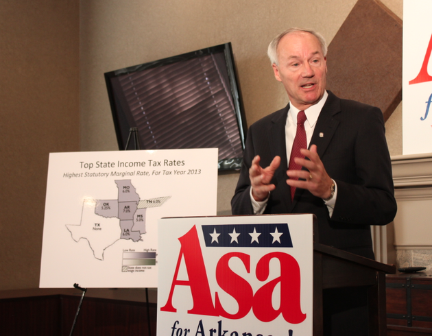 republican-gubernatorial-candidate-asa-hutchinson-calls-for-lowering-the-states-individual-income-tax-for-middle-class-earners-tuesday-at-his-little-rock-campaign-headquarters
