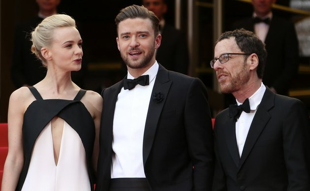 from-left-actors-carey-mulligan-justin-timberlake-and-director-ethan-coen-arrive-for-the-screening-of-inside-llewyn-davis-at-the-66th-international-film-festival-in-cannes-southern-france-on-sunday-may-19-2013