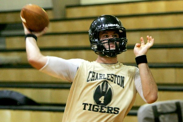 Charleston junior quarterback Ty Storey surpassed 7,000 career passing yards on Friday night.