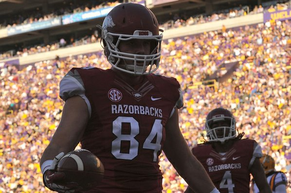 Arkansas tight end Hunter Henry ...
