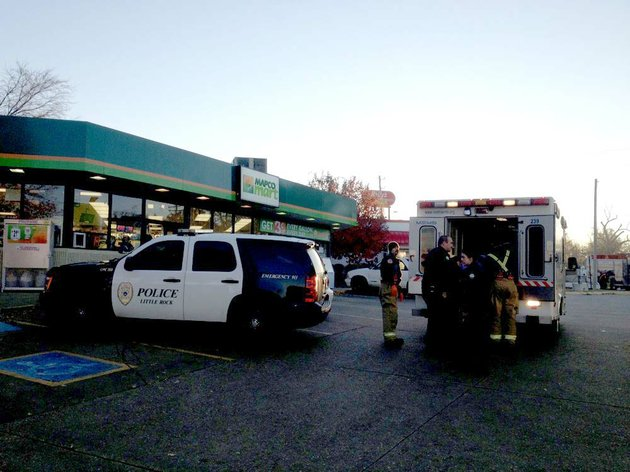 little-rock-authorities-respond-to-the-mapco-mart-at-5420-w-12th-st-where-employees-reported-that-a-man-had-run-in-from-across-the-street-saying-he-had-been-shot-in-the-face-and-side