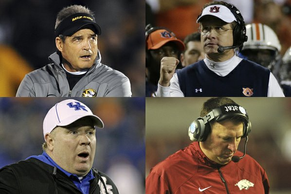 Missouri coach Gary Pinkel (top ...