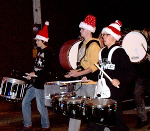 A parade is not a parade without a band and these drummer boys in the Gravette High School band are doing their part.