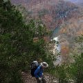 A hike on the Goat Trail leads to stunning views from 300 feet above the Buffalo National River.