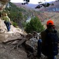 Annette Rowe and her husband, Earl Rowe take in views from the Goat Trail on Nov. 9 2013.
