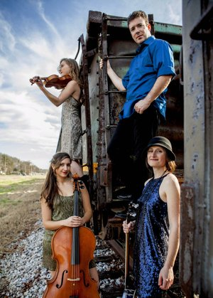 Harpeth Rising is (clockwise from bottom left): Maria Di Meglio, Jordana Greenberg, Chris Burgess and Rebecca Reed-Lunn.