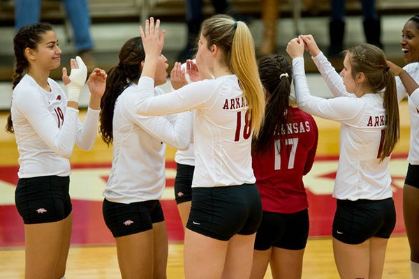 Arkansas' volleyball team fell in the NCAA Tournament on Friday.