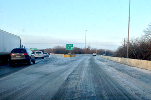 LR-area traffic slow as icy conditions remain