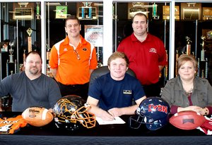 Photo by Dodie Evans Cody Robinson signs with Lyon College in Batesville....