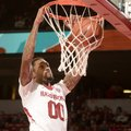 Arkansas guard Rashad Madden dunks against Savannah State Thursday Dec. 12, 2013, at Bud Walton Aren...
