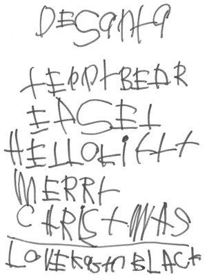 Submitted Letter Dear Santa, Teddy Bear, Easel, Hello Kitty. Merry Christmas, Love, Kasyn (4).