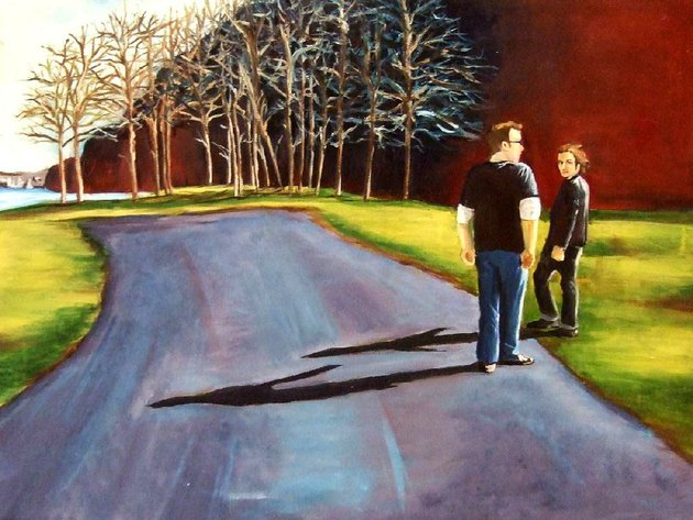 shannon-knowles-titled-her-oil-on-canvas-maumelle-park-are-the-two-men-depicted-at-the-end-of-the-road-whats-next